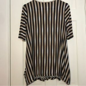 Dana Buchman Tops - Dana Buchman | Striped Black & Cream Blouse